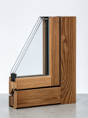 Lineabio serramento termotrattato angolo esterno
